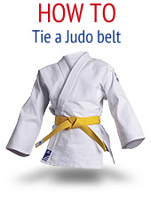 How to tie a judo belt